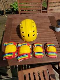 Vintage helmet +knee and elbow pads