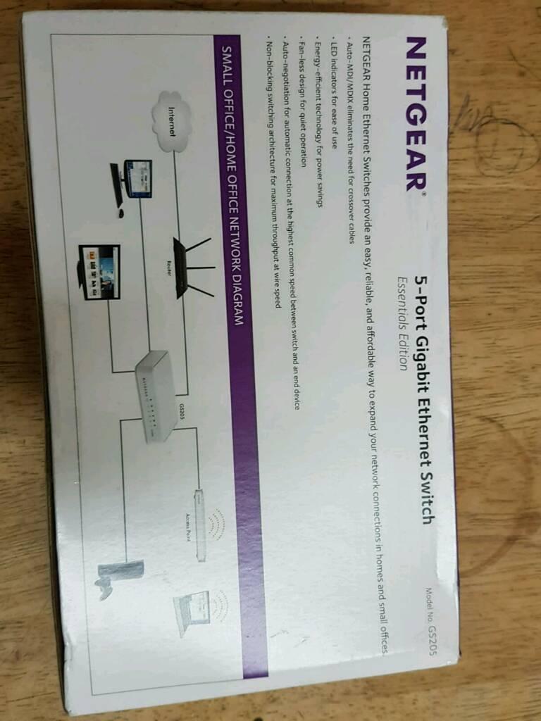 Netgear 5 Port Gibabit Ethernet Switch In Bradford West Yorkshire Network Diagram Small Office