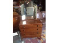 Matching dressing table and chest of draws
