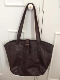 FatFace leather tote bag