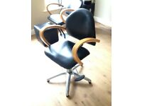 Hairdressers styling chair
