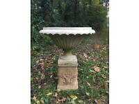 Large Urn on the plinth Garden Ornament