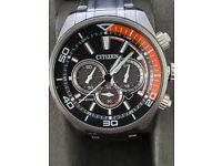Citizen Eco-Drive Gents Silver Stainless Steel Watch B620-S107245 Bracelet