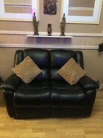 3 piece leather suite in as new condition all reclining