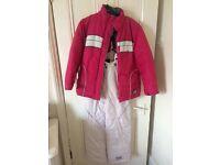 Teen ski jacket and salopettes
