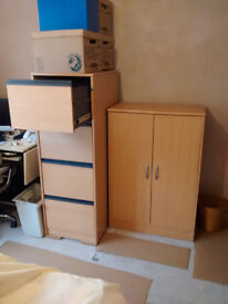 Filing Cabinet & Stationary Cupboard