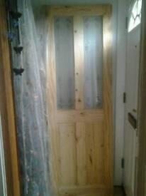 Knotted pine door