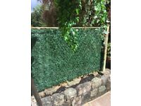 Artificial conifer hedging / garden screening size approx 1m x 1.2m. Looks same each side