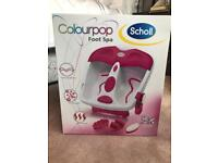 Scholl colourpop foot spa