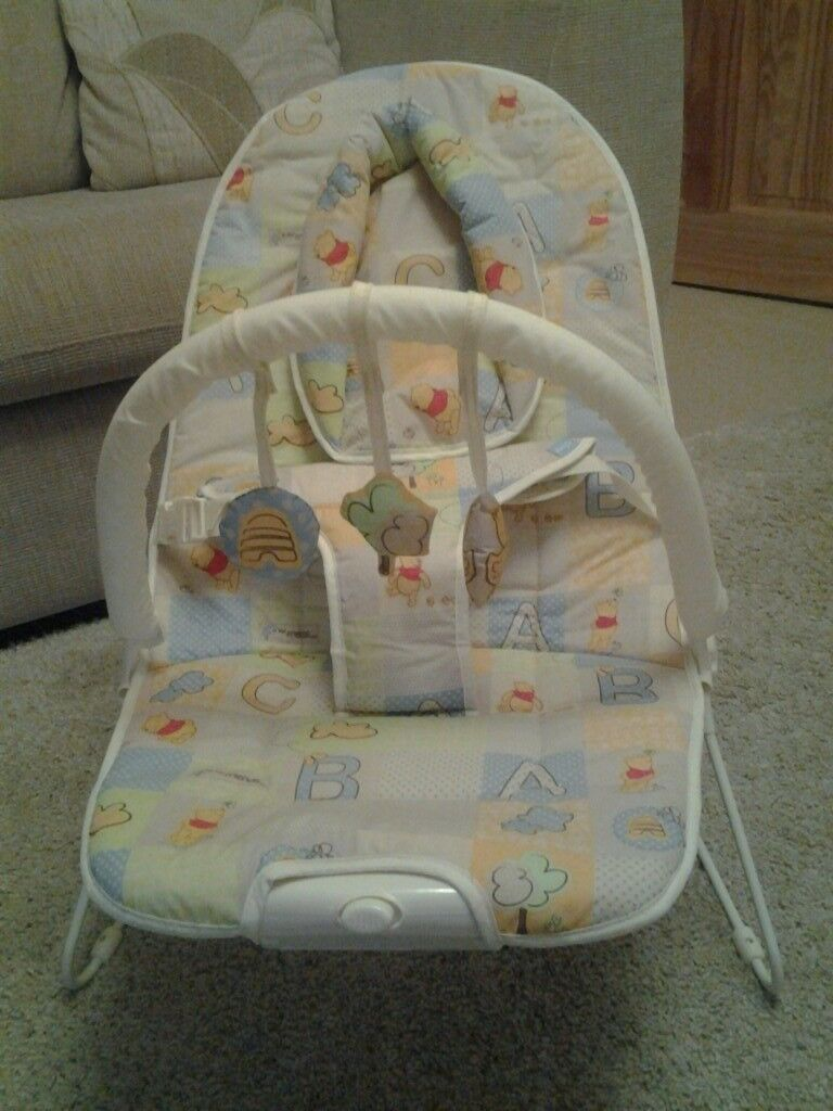East Coast Winnie The Pooh Vibrating Baby Bouncer