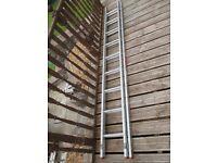 Titan Competitor Com28D Uk made Aluminium Double Extension Ladders