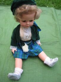 55 cm Doll in Scottish Style Clothing for £4.00