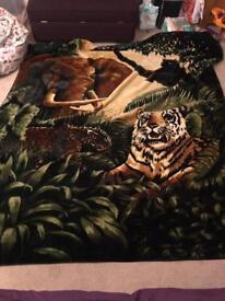Jungle animal print throw 200x240