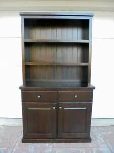 Eureka Street 2 Door Hutch / Display Cabinet / Bookcase