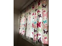 Butterfly children's curtains