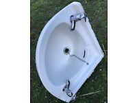 Twyfords English Made Corner Bathroom Sink