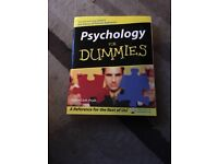 Psychology for dummies nearly new