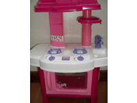Toy kitchen with food + accessories
