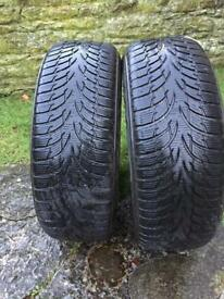 185-60-14 premium brand winter tyres with 4/5 mm tread remaining. Would consider splitting.