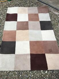 Dekko rectangular rug in brown shades