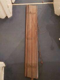 IKEA LINDMON Walnut wooden blind 120cm x 250cm