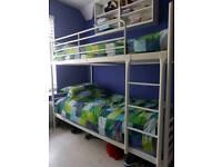 White metal ikea bunk beds