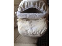 Spanish baby car seat cover