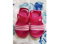 Size 6 girls infant Adidas Sandles Brand new