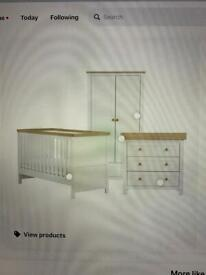 Mothercare Lulworth Wardrobe and Chest of Drawers