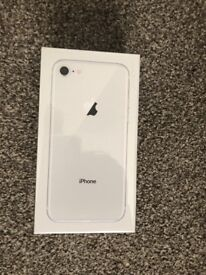 BRAND NEW AND SEALED IPHONE 8 UNLOCKED - 64GB (SILVER)