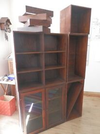 Shelves and small cupboard, used