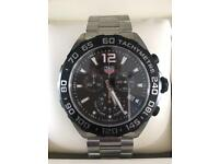 TAG HEUER F1 MEN'S BLACK DIAL STAINLESS STEEL BRACELET WATCH