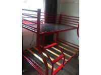 Bunk bed ( double bottom, single top )