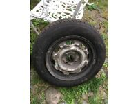Wheel and tyre for car