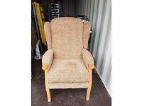 High Back Orthopedic Fireside Chair