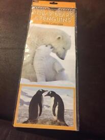 Penguin and polar bear 2018 calendar *new*