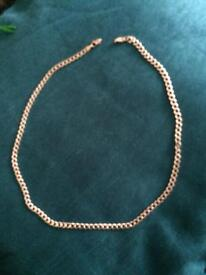 Solid silver chunky chain