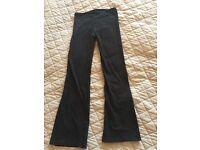 Girl's Black Jazz/Dance Trousers 8-9 Years