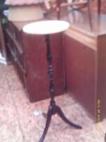 round marble plant stand