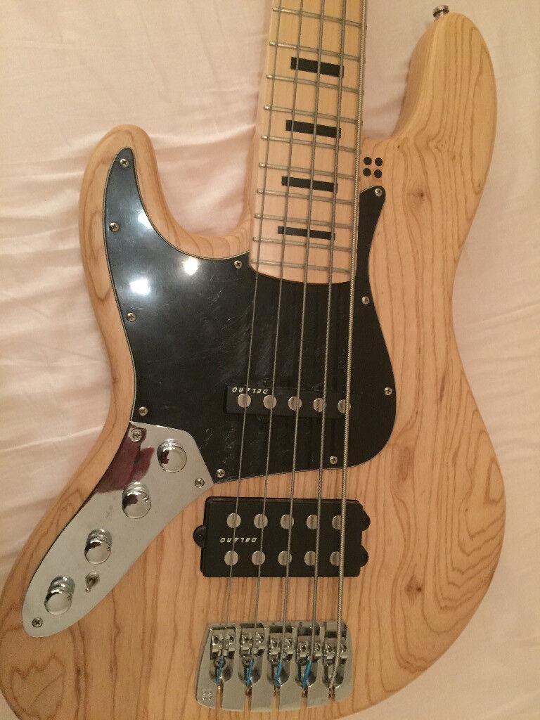 Sandberg California TM 5 Left handed bass guitar