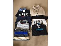 Boys jumpers/tops 9-12 years