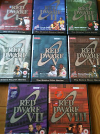 Dvd box sets of red dwarf, spooks, house ,e.t.c