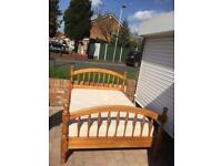 Solid pine double bed with quality mattress