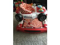 Baby racing car rocker walker