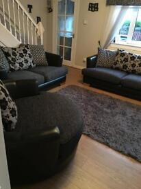 Dfs 3+2 seater and cuddle chair