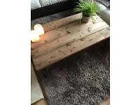 Rustic Hairpin Leg Coffee Table