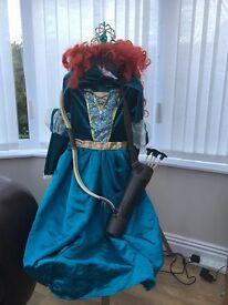 Princess Merida from the movie Brave dress up costume age 7-8