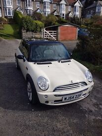 Cream Mini Cooper 1.6 Petrol with Panoramic Sunroof - Very Low Mileage