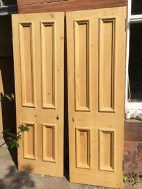 x2 Original Edinburgh Press Doors