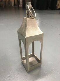 7x champagne open aluminium lanterns - ideal for wedding centrepieces